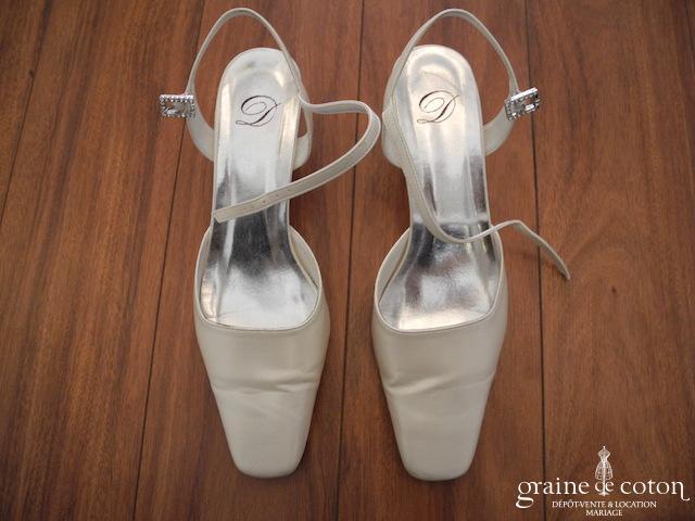 Dejean - Escarpins (chaussures) ivoires nacré