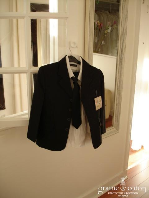 Nouvelle mode - Costume garçon noir avec cravate