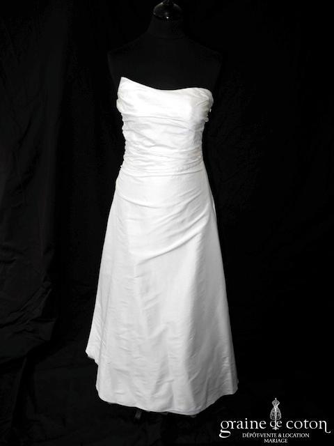 Lambert Créations - Versailles (soie sauvage drapé asymétrique laçage bustier)