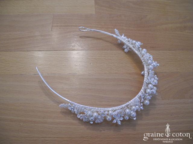 Diadème / headband en perles et strass