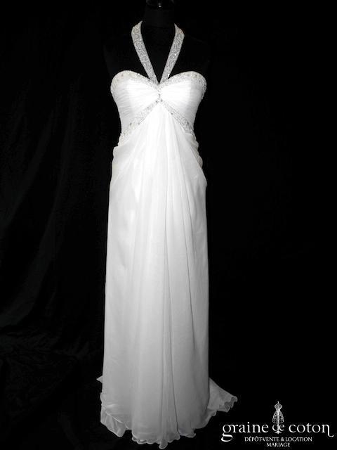 Elianna Moore - Calista (empire fluide mousseline drapé bretelles)