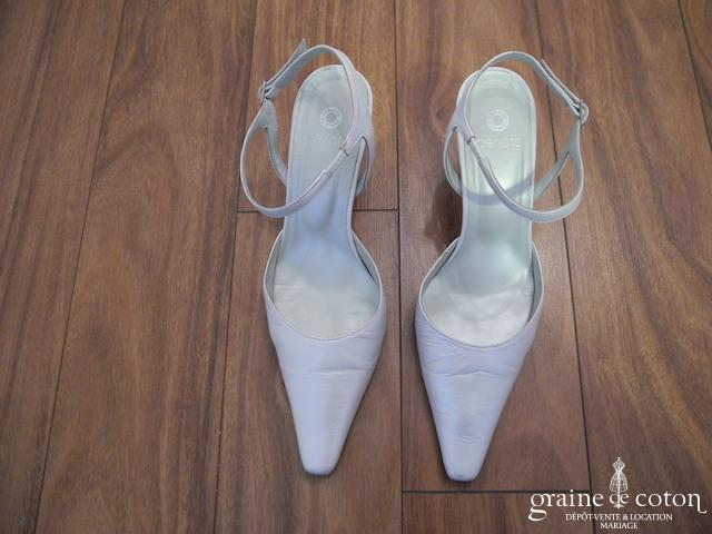 Perlato - Escarpins (chaussures) en cuir ivoire nacré