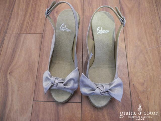 Castaner - Escarpins (chaussures) compensés dorés