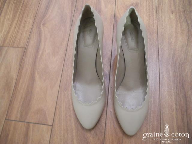 Chloé - Escarpins (chaussures) en cuir beige