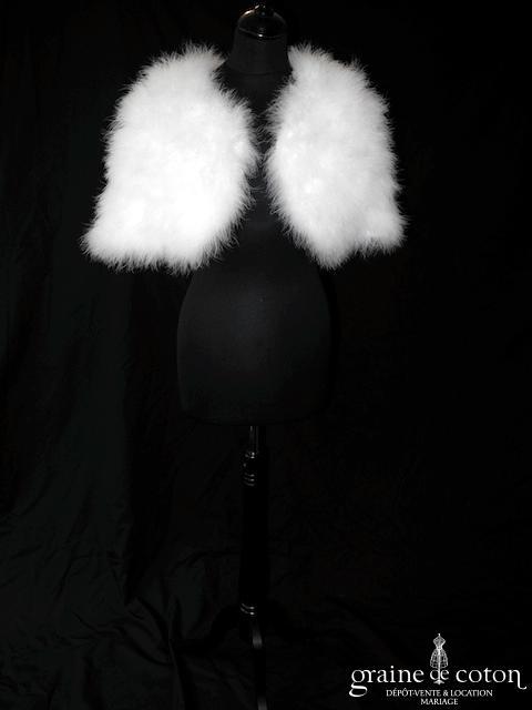 Étole / boléro en duvet de cygne ivoire clair