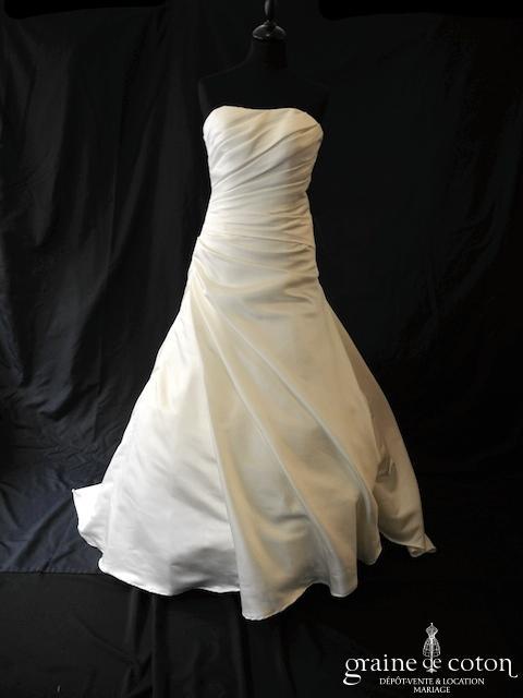 Atelier Diagonal - Oran (satin drapé taille basse bustier dos boutonné)