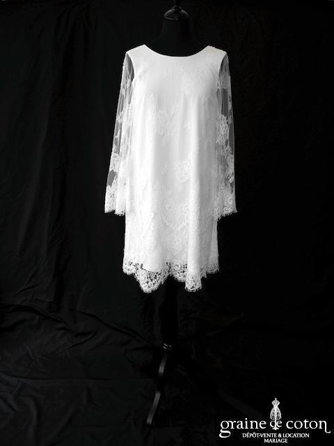 Elise Hameau - Amarante (courte dos-nu dos-V manches bretelles bohème fluide)