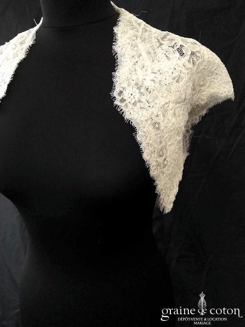 Rosa Clara - Boléro court en dentelle de Calais(manches)