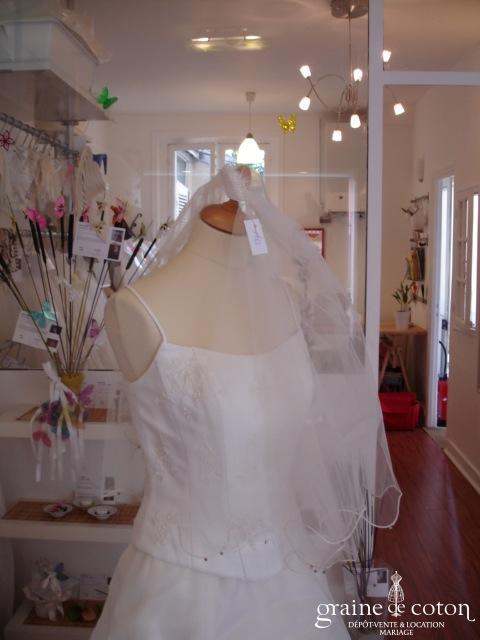 Morelle mariage - Voile Jasmine 1,5 m