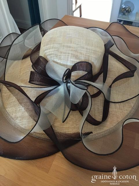Camalya - Chapeau ivoire et chocolat