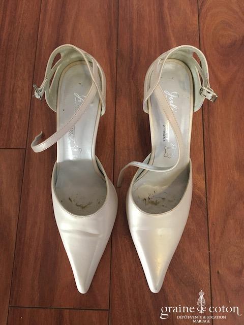 Julia - Escarpins (chaussures) en cuir ivoire bouts pointus