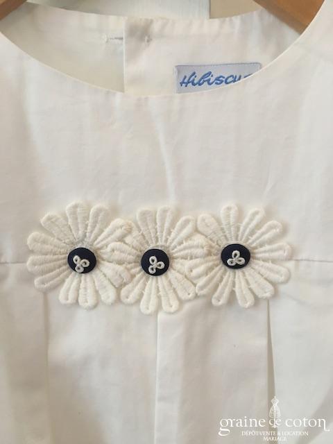 hibiscus – robe demoiselle d'honneur petite fille à manches ballon