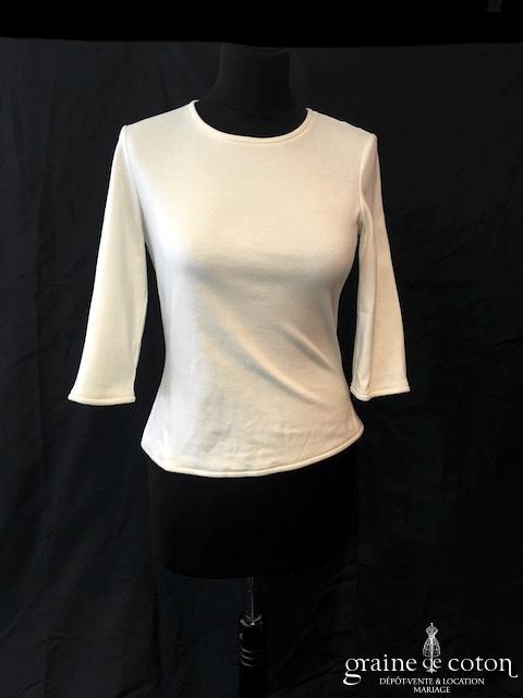 Delphine Manivet - Top en jersey de soie manches longues