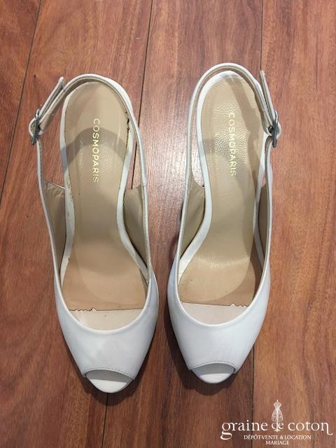 Cosmoparis - Escarpins (chaussures) en cuir ivoire