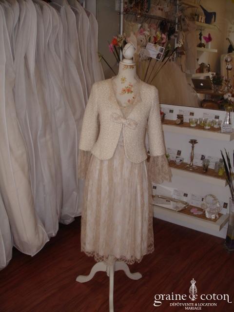 Carmélina créations - Baroque (tailleur jupe robe dentelle) (non stocké en boutique, essayage sur demande)