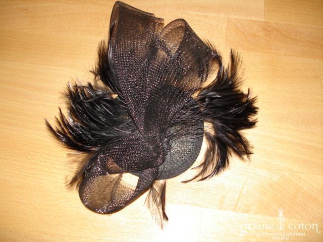 Carmélina créations - Bibi en plumes noir