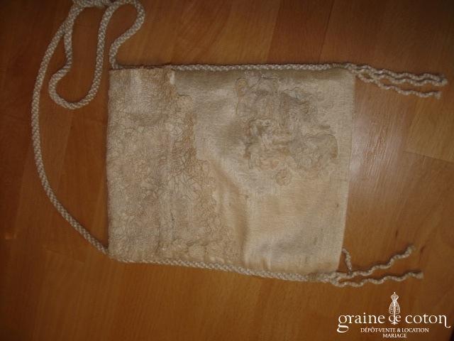 Carmélina créations - Pochette en soie ivoire