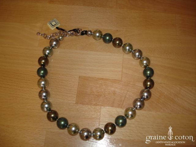Loews - Collier de grosses perles de Majorque vert