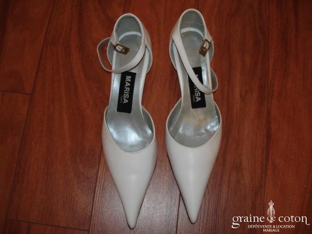 Marisa - Escarpins (chaussures) en cuir blanc
