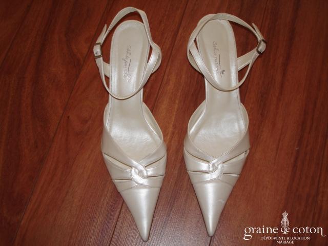 White Paradise - Escarpins (chaussures) cuir blanc nacré