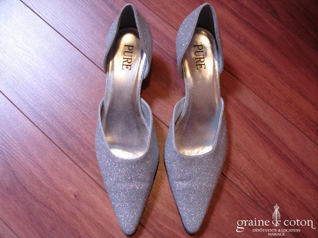 Pure - Escarpins (chaussures) paillettes argentées