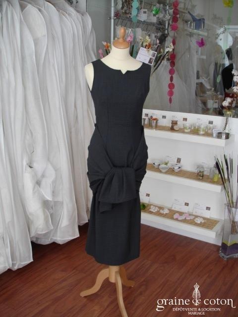 Frederico Bellini - Tailleur gris robe et veste courte (non stocké en boutique, essayage sur demande)