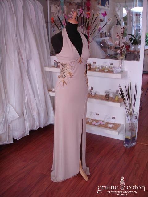 Invito Haute Couture - Robe de soirée longue crème