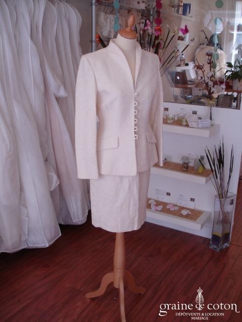 Alouette - Tailleur jupe ivoire