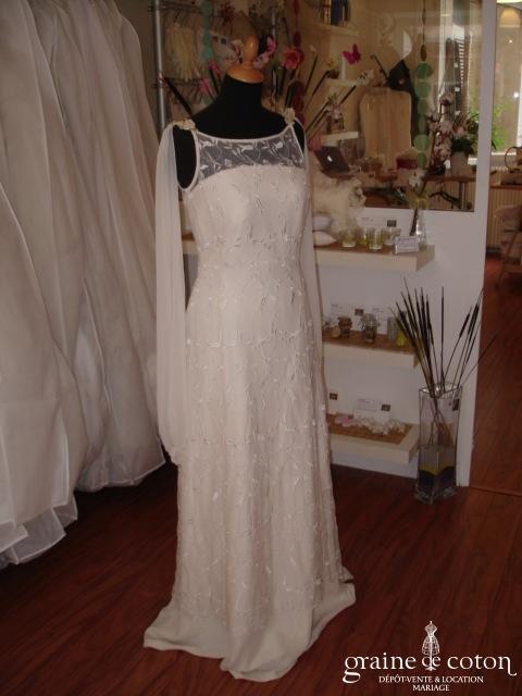 La Sposa - Robe fluide avec sur robe (dentelle mousseline)