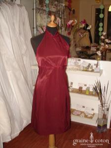 Les filles à la Vanille - Robe courte aubergine