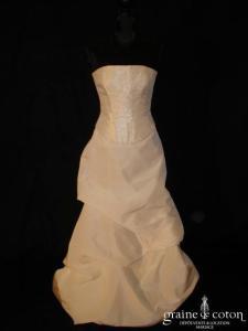 Cymbeline - Robe deux pièces ivoire et moirée (taffetas)
