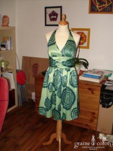 Manoukian - Robe dos nue verte (non stocké en boutique, essayage sur demande)