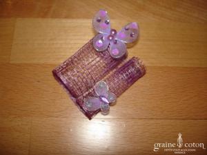Création Alexia de Paris - Mini bibi en abaca et papillons parme