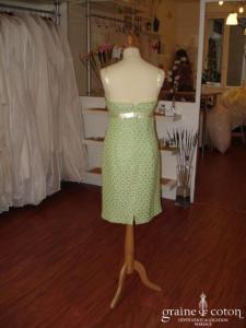 Helline - Robe courte verte (non stocké en boutique, essayage sur demande)