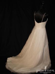 Mariées de Paris - Robe empire en dentelle et tulle ivoire (prototype)
