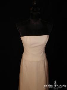 Mariées de Paris - Robe deux pièces taille haute en crêpe georgette et organza ivoire (prototype)