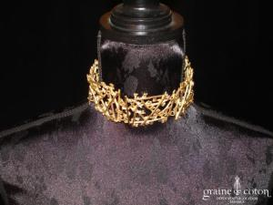 Biche de Bère - Tour de cou (collier) doré
