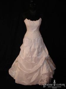 Cymbeline - Robe deux pièces blanche en taffetas et dentelle