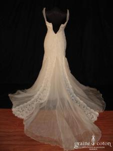 Pronovias - Aramis (empire fourreau dentelle tulle organza de soie)