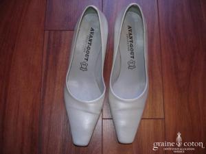 Avant Goût - Escarpins (chaussures) ivoire nacré intérieur cuir