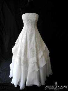 Mariées de Paris - Ilona (dentelle argentée organza blanche)