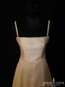 Cymbeline - Robe en mikado ivoire