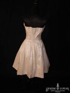 Monique Germain - Robe courte en soie plissée