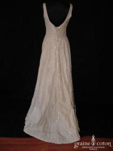 Corinne Sarrut - Robe une pièce en taffetas de soie ivoire