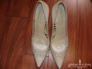 Jonak - Escarpins (chaussures) ivoires en cuir