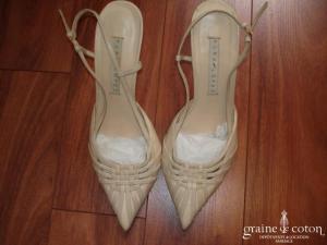 Pura Lopez - Escarpins (chaussures) ivoires en cuir