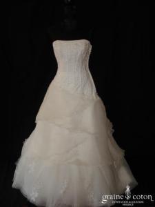 Divina Sposa - Bonita (organza plissé tulle taille basse dentelle)