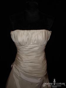Ysa Mariage - Athena (taffetas taille empire drapée)