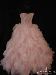Sarah Wedding - Zadig (tulle perle rose)