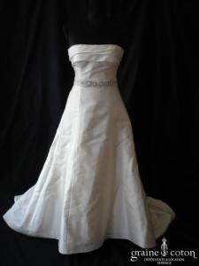 Manuel Mota pour Pronovias - Ceinture en organza de soie et strass pour la robe Sénégal